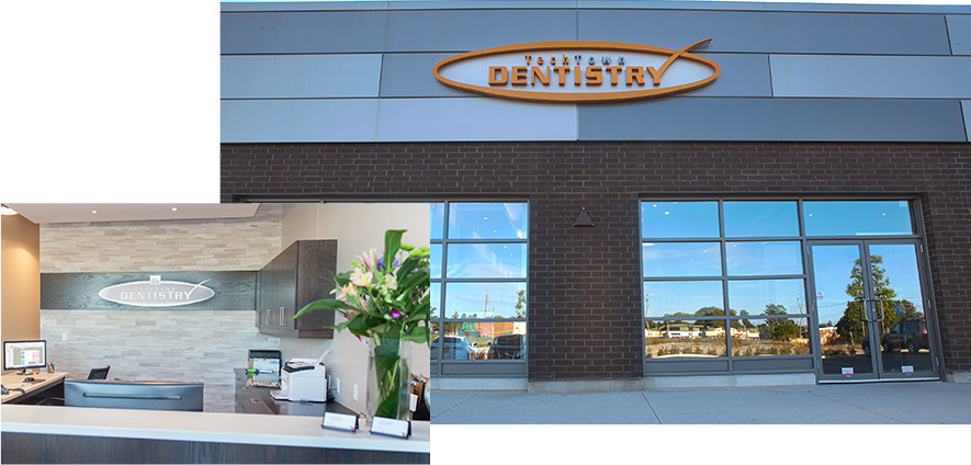 Collage of the Exterior and Interior of TechTown's clinic